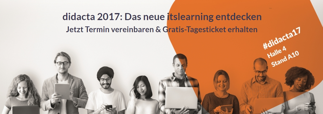 Didacta 2017 mitmachen programmausblick itslearning for Itslearning