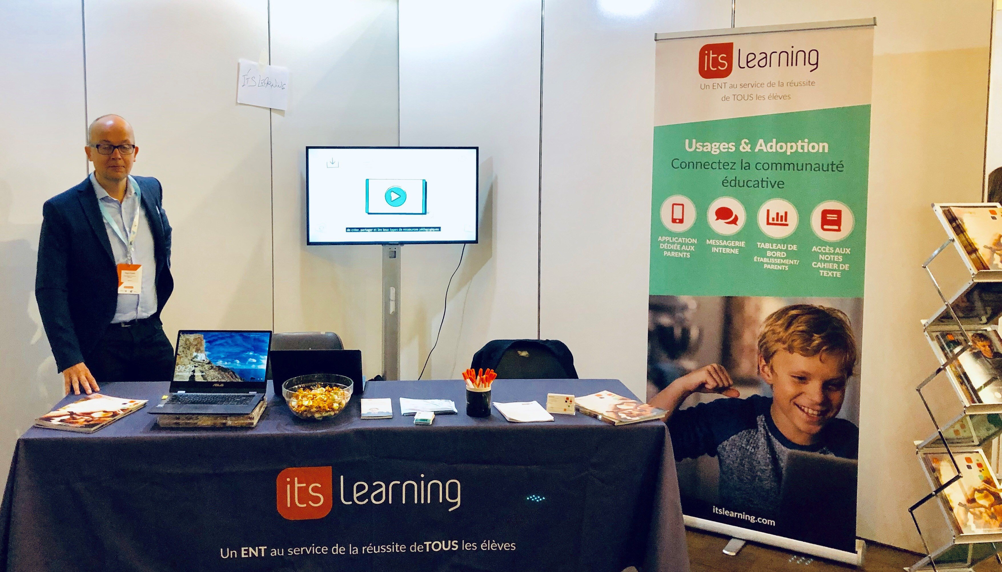 stand d'itslearning à Ludovia BE