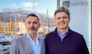 Arne Bergby with the new itslearning CEO Steve Tucker.