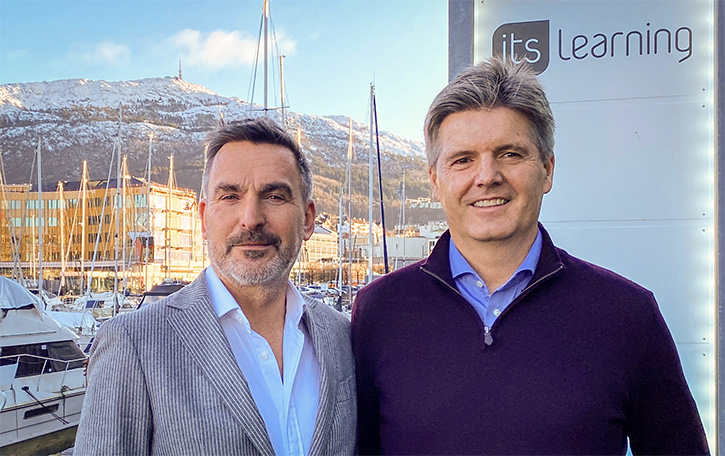 Arne Bergby (right) with new itslearning CEO Steve Tucker